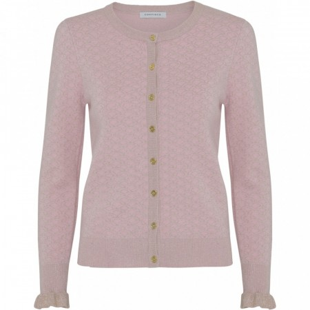 Continue Claire Lurex Knit Cardigan, Rosa