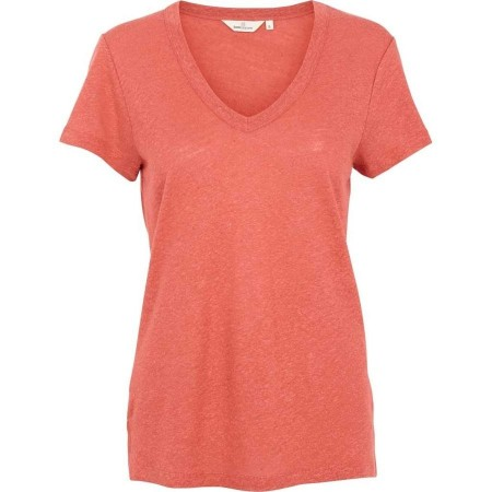 Basic Apparel Monica T-shirt V Neck - Mineral Red
