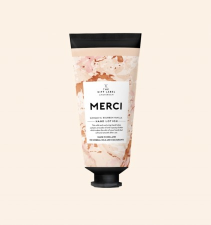 The Gift Label Hand Lotion Tube, Merci