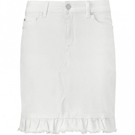 Pieszak Alexa Frill Skirt White Distressed
