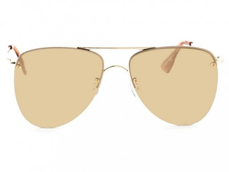 Le Specs The Prince - Gold With Gold Revo Mirror Lens
