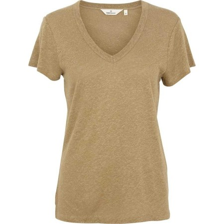 Basic Apparel Monica T-shirt V Neck - Covert Green