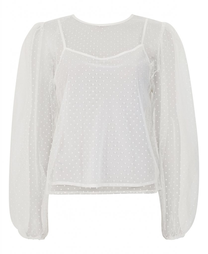 Line Of Oslo Ice Dotblouse - White
